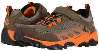Merrell Moab FST Low A/C Waterproof (Little Kid/Big Kid) (Brown/Orange) Boys Shoes