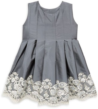 Isabel Garreton Little Girl's Sequin Embroidered Taffeta Dress