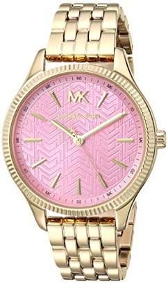 Michael Kors Women's Lexington Quartz Watch with Stainless-Steel-Plated Strap