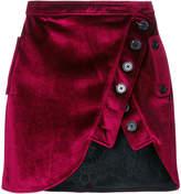 Self-Portrait asymmetric buttoned skirt