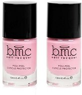 BMC 0.4 fl oz Latex Poli-Peel Cuticle Protector Nail Art Polish Accessory - Two Bottles