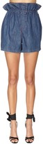 Philosophy di Lorenzo Serafini Ruffled Cotton Denim Shorts