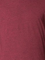 American Apparel Poly-Cotton Short Sleeve Crew Neck, Heather Cranberry, Large