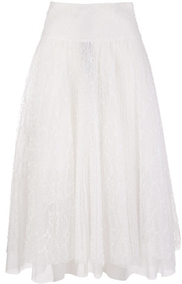 Ermanno Scervino Long Pleated Skirt