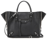 Balenciaga Mini Papier A4 Zip Around Leather Shoulder Bag