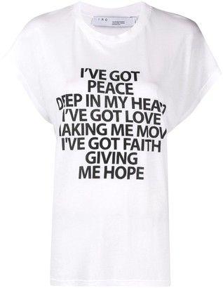 IRO slogan-print T-shirt