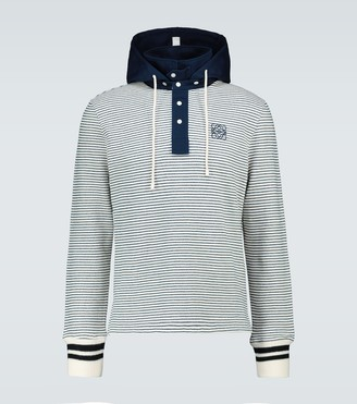 Loewe Striped hooded polo sweater