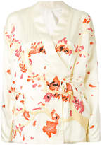 MHI embroidered wrap jacket