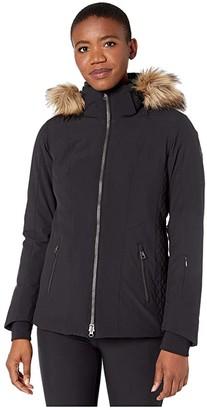 Obermeyer Siren Jacket w/ Faux Fur (Black) Women's Clothing