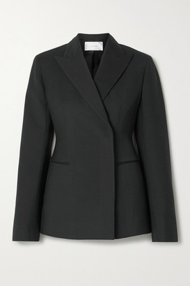 The Row Lanois Double-breasted Wool-blend Blazer - Black