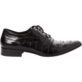 Just Cavalli Black Leather Lace ups