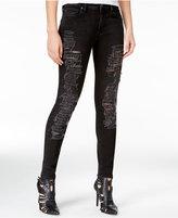 True Religion Halle Ripped Dark Grey Wash Super-Skinny Jeans