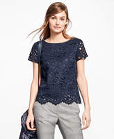 Brooks Brothers Cotton-Blend Lace Blouse