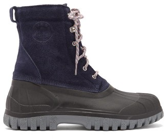 Diemme Anatra Suede And Rubber Boots - Navy