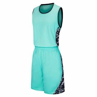 Huicai Mens Basketball Uniforms Wear Sports Jersey and Shorts Training Tank Top Set Jersey and Shorts 2 Piece Set