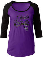 5th & Ocean Women's Colorado Rockies Sequin Raglan T-Shirt