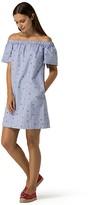 Tommy Hilfiger Off-The-Shoulder Shirtdress