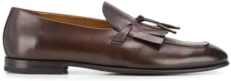 Silvano Sassetti Fringed Detail Almond Toe Loafers
