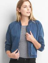 Gap Indigo bomber jacket