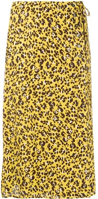 Seventy Leopard Print Side Tie Skirt