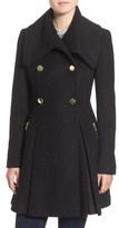 GUESS Women's Envelope Collar Double Breasted Coat