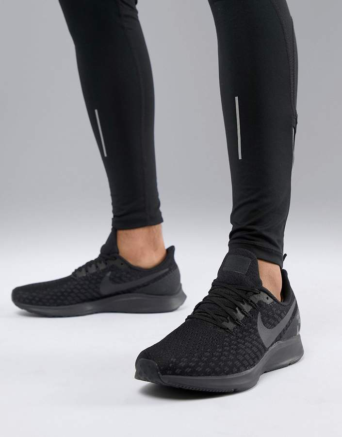 Nike Running Air Zoom 35 Pegasus sneakers in triple black 942851-002
