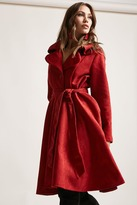 Forever 21 Faux Suede Belted Coat