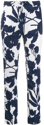 Talbot Runhof Floral Print Slim-Fit Trousers