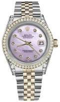 Rolex Datejust 18K Yellow Gold & Stainless Steel Pink Mother Of Pearl Dial 36mm Unisex Watch