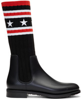 Givenchy Black Storm Line Sock Boots