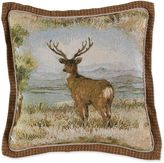 Croscill Cold Springs Square Throw Pillow in Brown