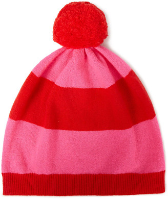 Chinti and Parker Striped Wool And Cashmere-blend Beanie