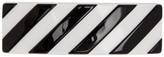 Off-White Off White White and Black Diag Hair Clip