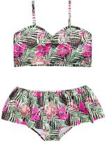 Very Girls Hibiscus Frill Tankini Set