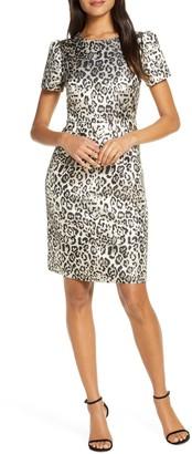 Rachel Parcell Metallic Leopard Print Dress