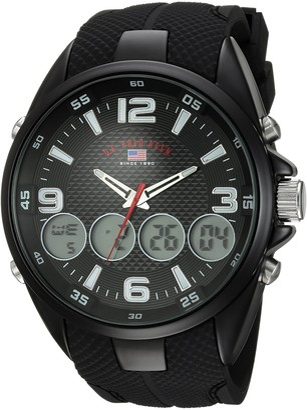 U.S. Polo Assn. Men's Analog-Quartz Watch with Rubber Strap