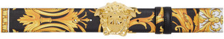 Versace Black Barocco Medusa Belt