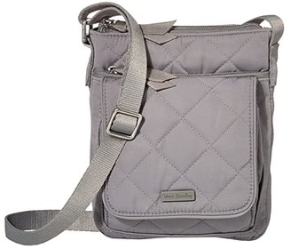 Vera Bradley Performance Twill RFID Mini Hipster (Tranquil Gray) Handbags