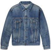 Balenciaga Like A Man Oversized Printed Denim Jacket