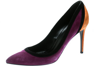 Gucci Tricolor Suede Pointed Toe Pumps Size 40