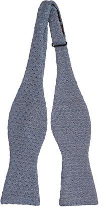 Notch Men's Knitted Self-tie Bow Tie - Blackberry knit in blue melange