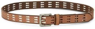 Frye Perforated Leather Belt
