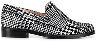 Leandra Medine Check Print Loafers