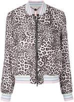 Marc Cain leopard print bomber jacket