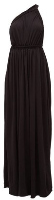 The One Matteau Shoulder Maxi Dress - Womens - Black