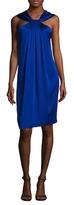 St. John Liquid Crepe Halter Shift Dress
