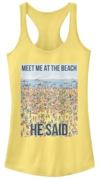 Fifth Sun Where's Waldo Meet Me At The Beach He Said Ideal Racer Back Tank