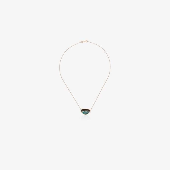 d5adc46ec789d Mcdonald 18K rose gold opal pendant necklace