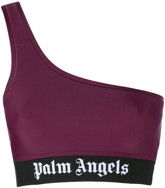 Palm Angels single shoulder strap cropped top