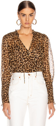 Veronica Beard Jaz Top in Leopard | FWRD
